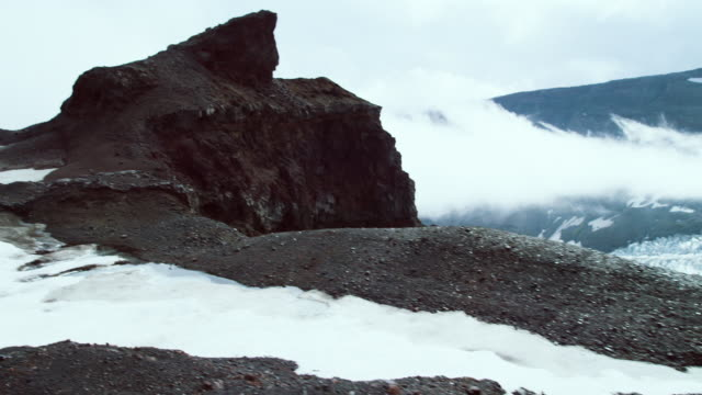 volcanic ice cliff - roccia video stock e b–roll