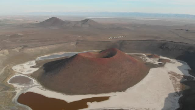 volcanic landscape and crater - natural pattern stock videos & royalty-free footage