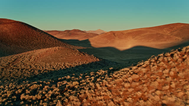 volcanic landscape in central nevada - aerial - natural landmark stock videos & royalty-free footage