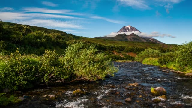 Volcanic landscape. Kamchatka, Russia