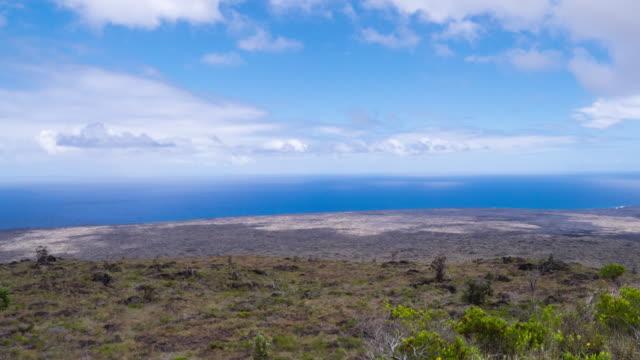 vídeos y material grabado en eventos de stock de volcanic landscape of hawaii volcanoes national park, big island hawaii, usa - cirro