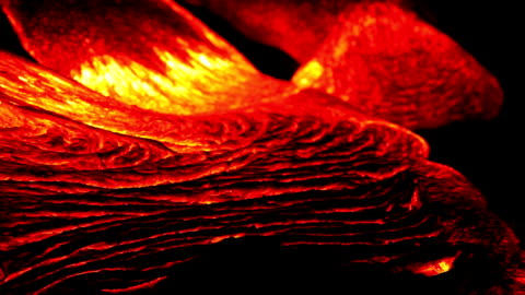 volcanic lava flowing at night - lava stock videos & royalty-free footage