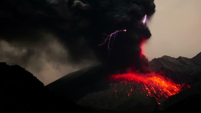 Volcanic lightning on Sakurajima