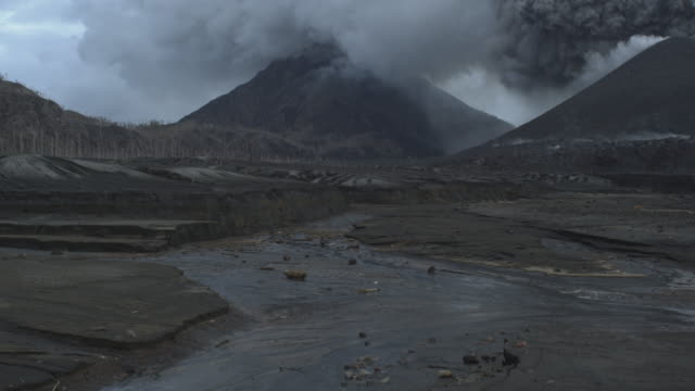 volcano and volcanic beach, tavurvur, 2009 - papua new guinea stock videos & royalty-free footage