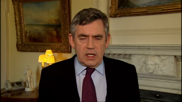 volcano ash cloud prevents air travel for a 5th day gordon brown statement england london int gordon brown mp statement sot we've just had a meeting... - ash stock videos & royalty-free footage