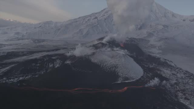 Volcano Eruption. Kamchatka, Russia.