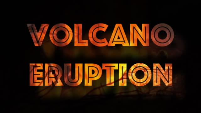 stockvideo's en b-roll-footage met vulkaan uitbarsting waarschuwingsbord vuur brandende milieukwestie - active volcano