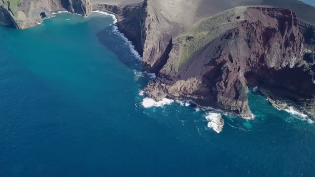 アゾレス諸島のファイアル島, hd ビデオの火山 - アゾレス諸島点の映像素材/bロール