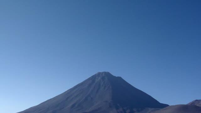 td ws volcano in desert landscape, san pedro de atacama, el loa, chile - san pedro de atacama stock videos & royalty-free footage