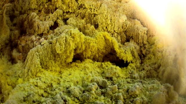 volcano in nisyros, greece - geyser video stock e b–roll