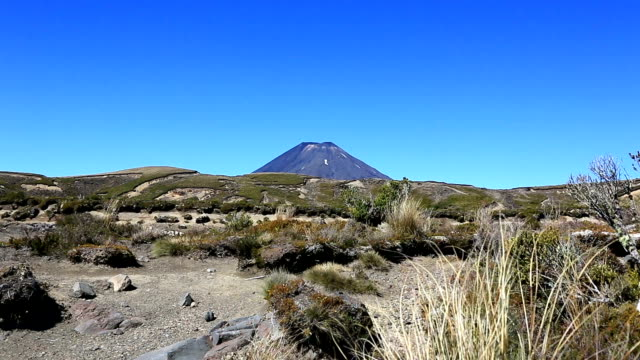volcano in tongariro national park, new zealand - tongariro national park stock videos & royalty-free footage