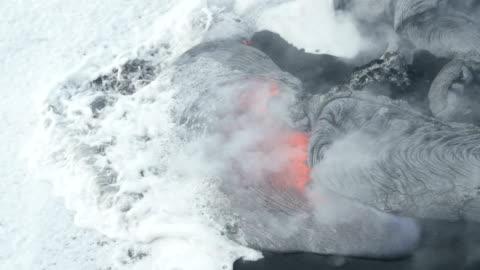 volcano kilauea on hawaii - lava stock videos & royalty-free footage