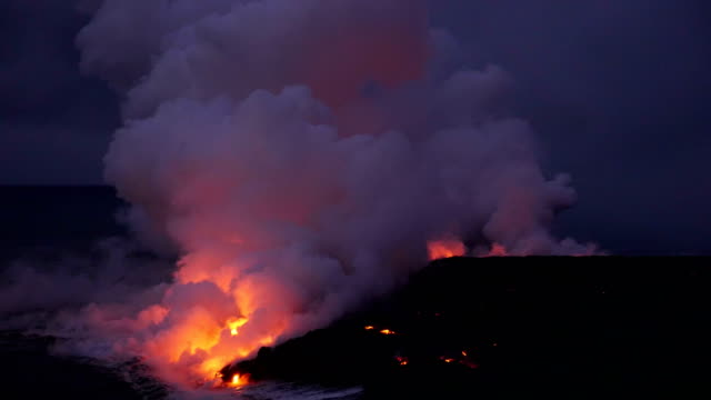 volcano kilauea on hawaii - kilauea stock videos & royalty-free footage