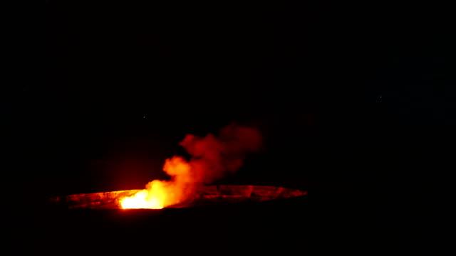 volcano kilauea on hawaii - hawaii islands stock videos & royalty-free footage