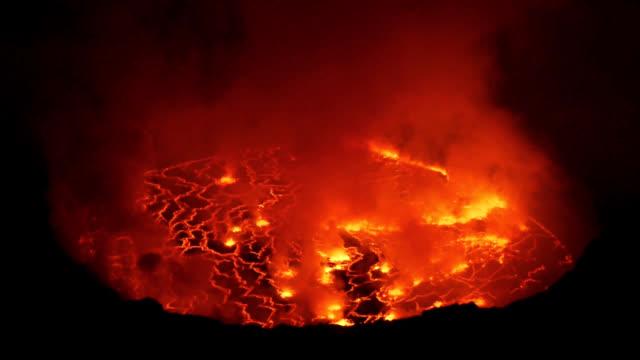 Volcano Nyiragongo in Kongo