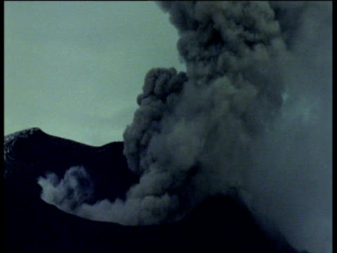 volcano spews smoke and ash. - burping stock videos & royalty-free footage