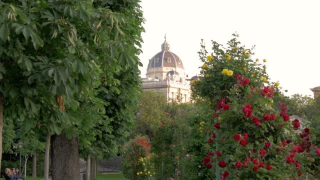 volksgarten.view of hofburg.wide shot. - the hofburg complex stock videos & royalty-free footage