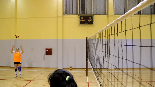 volleyball attack - volleyball sport stock videos & royalty-free footage
