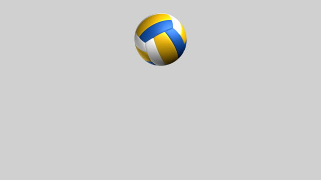 vidéos et rushes de terrain de volley-ball sauter loop isolé en luminance zg - motion design