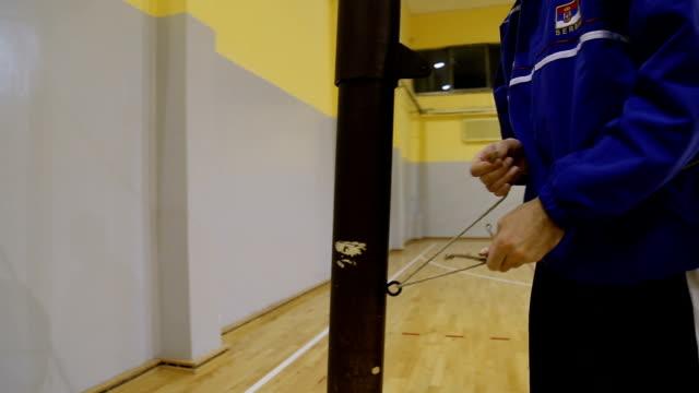 バレーボール ネット設定 - 修理する点の映像素材/bロール