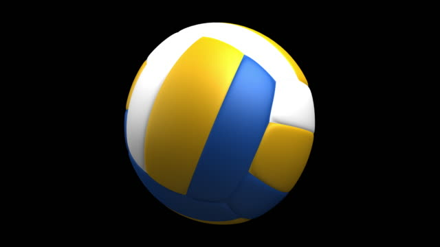4 k-volleyball rotierende schleife luma matt - volleyballnetz stock-videos und b-roll-filmmaterial