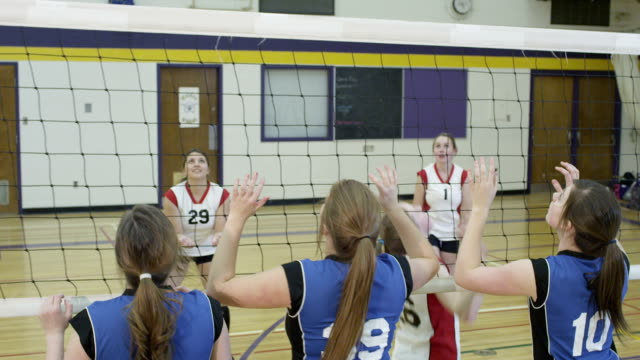 volleyball - female high school student stock videos & royalty-free footage