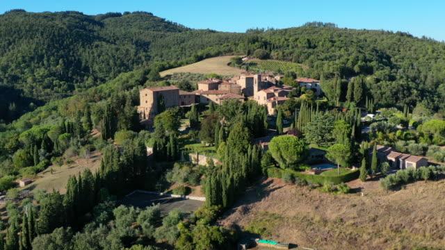 volpaia vineyards in chianti wine region, tuscany, italy - grape stock videos & royalty-free footage