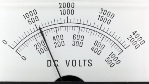 dc voltage analogue power supply - high voltage sign stock videos & royalty-free footage