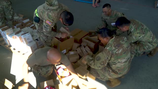 Volunteers from around the world teamed up with the Army Reserve in Saipan Commonwealth of the Northern Mariana Islands on Nov 17 2018 to help...