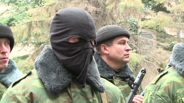 volunteers in crimea are joining a prorussian selfdefence movement to prevent what they consider 'rightwing extremist' proukrainians from sowing... - self defence stock videos & royalty-free footage
