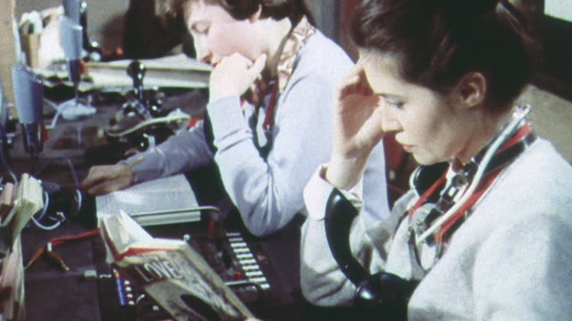 1962 PAN Volunteers in training to work as warning officers at the UK Warning and Monitoring Organization / United Kingdom