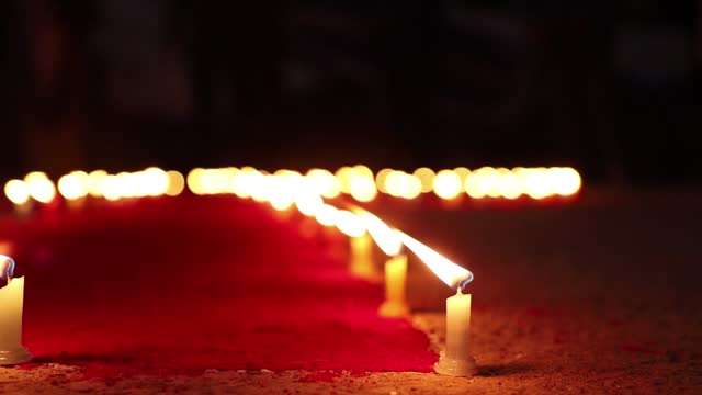 volunteers of maiti nepal light candles to mark the eve of world aids day, in kathmandu, on monday, november 30, 2020. maiti nepal is an organization... - aids awareness ribbon stock videos & royalty-free footage