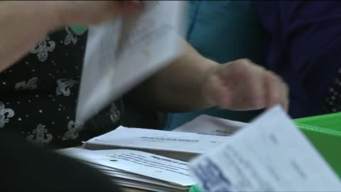 volunteers sorting ballots at election center - pierce county washington state stock videos & royalty-free footage