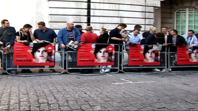 ' Volver' film premiere arrivals interviews departures and photocalls ENGLAND London Curzon Mayfair EXT General view of crowd behind barrier at...