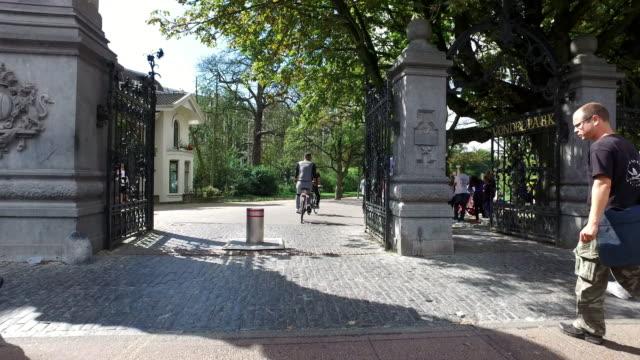 4k pov: vondelpark amsterdam - amsterdam stock videos & royalty-free footage