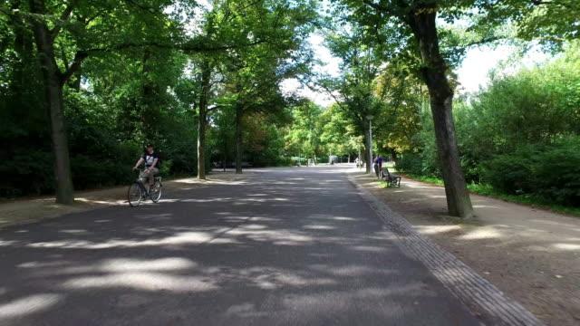 pov: vondelpark amsterdam - vondelpark stock videos and b-roll footage