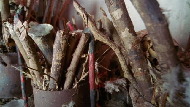 cu, voodoo altar, havana, cuba  - skull stock videos & royalty-free footage