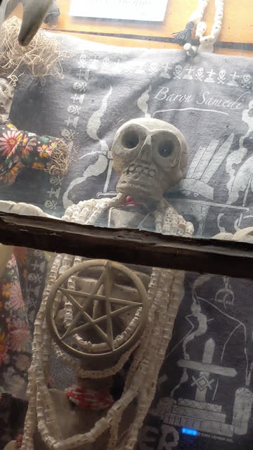 a voodoo shop on the famed bourbon street in the french quarter. - evil stock videos & royalty-free footage