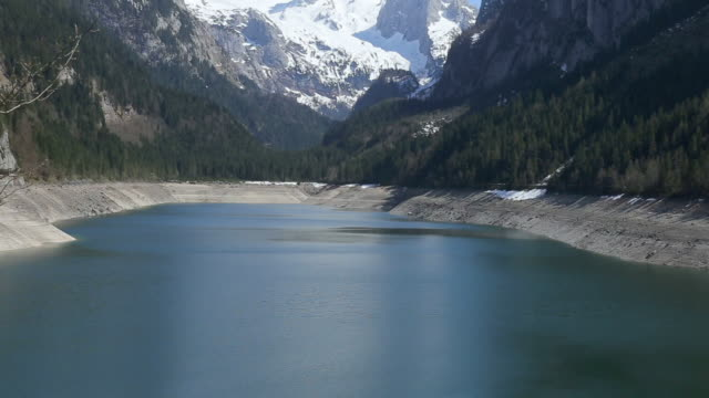 vorderer gosausee lake - dachstein mountains stock videos and b-roll footage