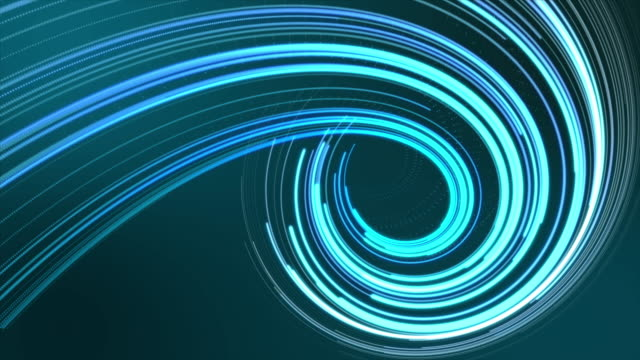 vortex light blue - fibra ottica video stock e b–roll