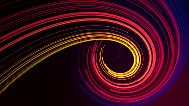 vortex light multi colored - fibra ottica video stock e b–roll