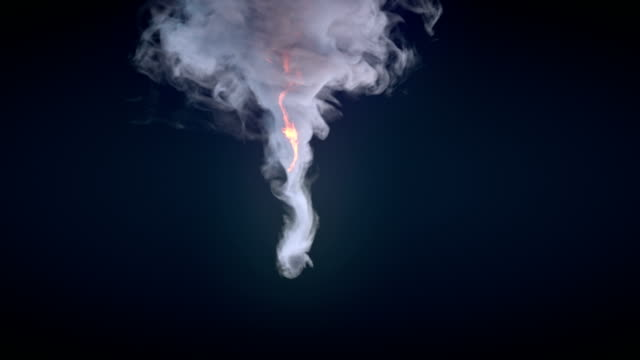 vortex like explosion with alpha channel. 3d rendering - smoke physical structure stock videos and b-roll footage