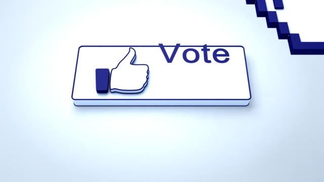 vidéos et rushes de bouton de vote - voter