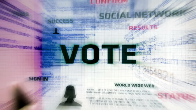 vote button (white) - election stock videos & royalty-free footage