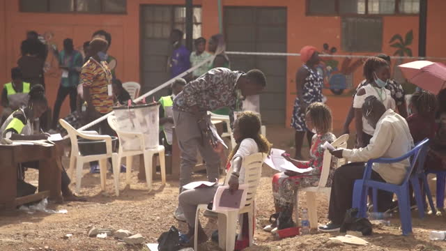 "vote count in uganda's presidential election, in kampala, the main contenders being bobi wine and president museveni - ""bbc news"" stock videos & royalty-free footage"
