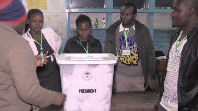 vote counting gets underway following election in kenya dominated by a tight battle between incumbent uhuru kenyatta and his rival raila odinga - raila odinga stock videos and b-roll footage