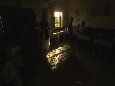 vote counting in a dark room in karachi - karachi stock videos and b-roll footage
