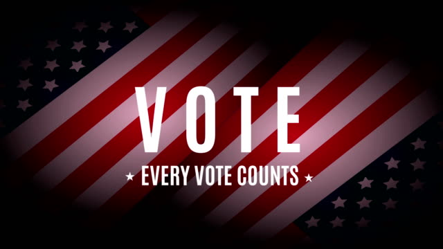vote. every vote counts. 4k animation - us president stock videos & royalty-free footage
