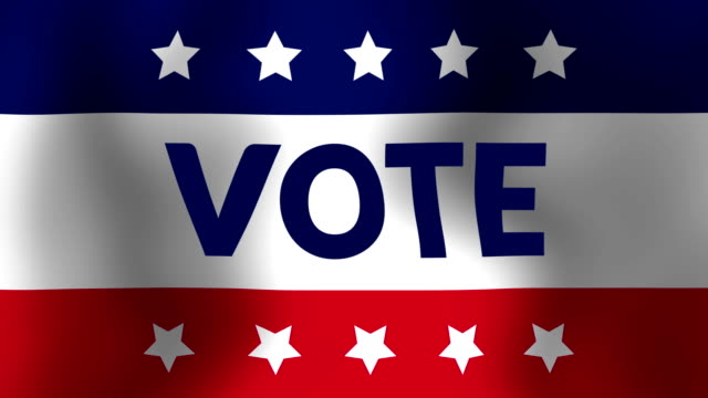 vote flag - american culture stock videos & royalty-free footage