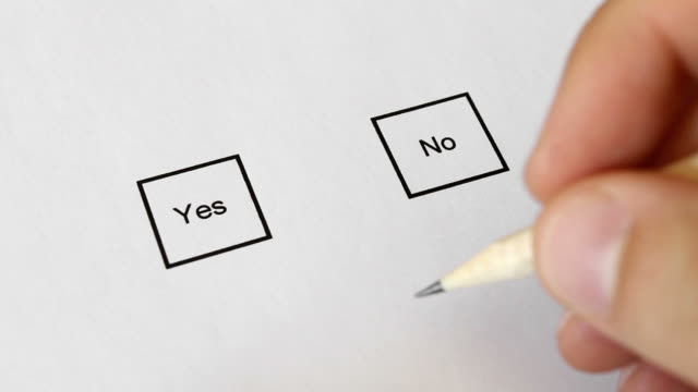 vote no with strong determination - yes single word stock videos & royalty-free footage